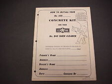 1954 Starline Concrete Kit for No. B45 Barn Cleaner,How to Install