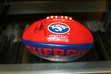 W'BULLDOGS - JASON AKERMANIS HAND SIGNED MINI FOOTBALL +PHOTO PROOF & C.O.A