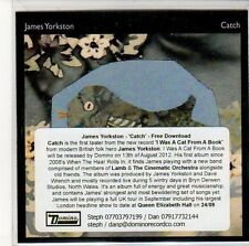 (ED590) James Yorkston, Catch - 2012 DJ CD