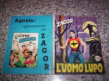 ZAGOR ZENITH N.100 ORIGINALE DEL 1969 MB/OTTIMO TIPO TEX MARK ARALDO DOG RANGER