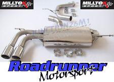 "Milltek Cat Back Exhaust Audi A3 2.0T FSI 2WD Non Res 2.75"" Smaller Rear Box JET"