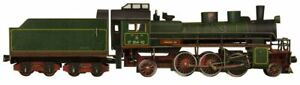 Steam locomotive SU-214 3D Puzzle Paper constructor model for assembly 1/87