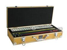 White Swan Mahjong Set - Ivory Tiles, Gold Aluminum Case, Pushers Not Included