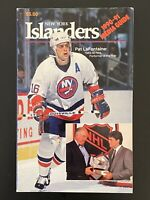 NEW YORK ISLANDERS NHL HOCKEY 1990-91 Media Guide/Yearbook PAT LAFONTAINE COVER