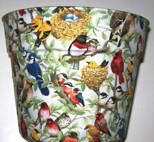 BIRD LOVERS JAYS FINCHES  PLANTER FLOWERPOT PARTY GIFT BASKET SUPPLIES CONTAINER