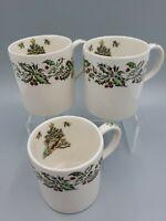 Johnson Brothers England Merry Christmas Punch Cup Eggnog Coffee Mug 8 oz. Lot 3