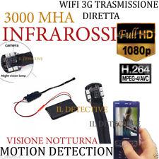 Spy Camera Spia WIFI HD TELECAMERA MICRO NASCOSTA MICROCAMERA infrarossi