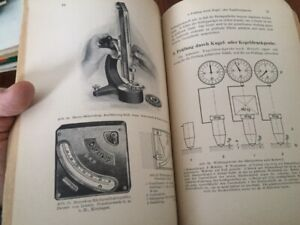 GERMAN Book Technical Drawings Scleroscope Duroscope Illustrated 1930 Zeiss Jena