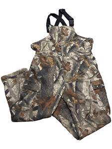 Cabela's Scent Lok Bib Pants Overalls Mens Size L Insulated Camo Hunting Bow