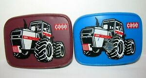 2 Case 2870 4WD Traction King Tractor Promo Belt Buckles Bortner Janesville WI