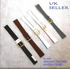 leather watch strap 14mm High Quality Leather Ladies Replacement Strap black