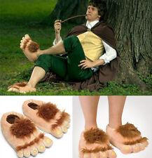 Pair Hairy Plush Hobbit Feet Adventure Costume Furry Adventure Slipper Xmas Gift