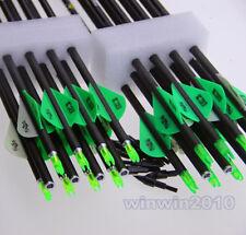 Carbon Fiber Arrow Archery Hunting Nocks For Compound Bow Shooting 24PCS 80CM