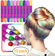 Hair Chalk for Kids Girls Gifts Temporary Hair Chalks Colour Washable Pen 10pc