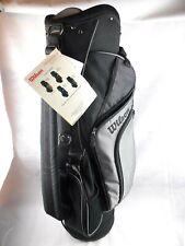 Wilson Plus Cart Golf Bag Black & Silver 6 Dividers Multiple Pockets w/Cover