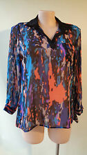 Long sleeves plus size 16 Millers multi colour print top