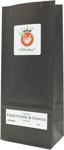 Hawthorn and Ginkgo Biloba Organic Herbal Infusion (25 Tea Bags - Unbleached)