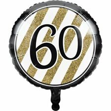 Black and Gold 60th Birthday Foil Balloon 60th Birthday Party Decoration