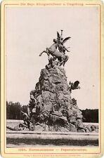 Herrenchiemsee-Pegasusbrunnen.- Dresden 1888  Kabinettfoto