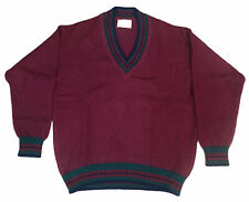 New listing Vintage Maroon V Neck Wool Lord Jeff Sweater - L