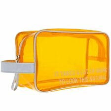 About Face Designs 122840 It Takes Alot Orange Cosmetic Bag Large