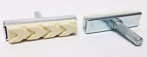 2 Old school BMX freestyle MTB Cantilever bicycle  brake pads WHITE