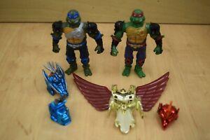 2X TMNT Metal Mutants Raphael Leonardo w/ Some Accessories See Description