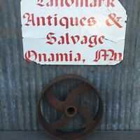 Vintage Cast Flat Belt Pulley 11 1/4 x 2 7/8 Steampunk Lamp Base
