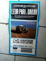 Rennen Paris-Dakar - Poster/Werbeplakat  1987  -26x 49 cm