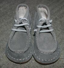 Livie & Luca Baby Boys Gray Suede Bailey Boots Shoes - Size 6 - NEW NO BOX