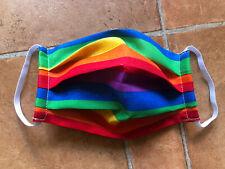 100% Cotton  Custom Handmade/Pride /Gay/lesbian/ LGBT /Rainbow Mask Washable