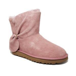 UGG Classic Mini Twist Boots Pink Dawn Womens Size 8