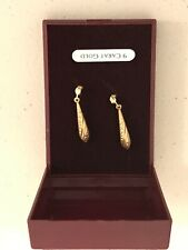 More details for gold. ladies 9 carat gold earrings