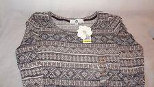 New Shirt Long Sleeve Knit Size Medium Geometric Castle Rock GEO WF