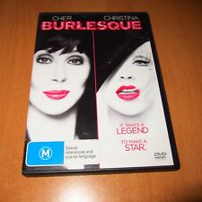 BURLESQUE - ( 2011 , DVD ) [ R4 ] CHER / CHRISTINA AGUILERA ~ VERY GOOD
