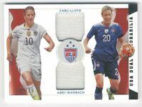 2015 Panini USA Soccer Dual Memorabilia #2 Abby Wambach Carli Lloyd Jersey /99