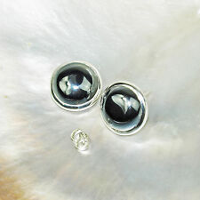 Hämatit Ohrring, 925er Silber, Edelstein Ohrring (830), Edelsteinschmuck