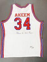 Hakeem Olajuwon Houston Rockets Basketball Autographed Signed Jersey /1250 BAS