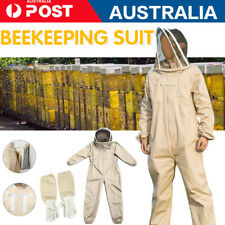 AU Full Beekeeping Suit Bee Suit Heavy Duty w/Leather Ventilated Keeping Gloves