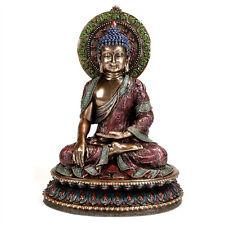 "BUDDHA STATUE 11"" Shakyamuni Buddhist Deity HIGH QUALITY Bronze Resin Meditation"