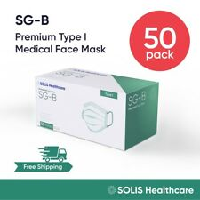 50 Pack - [SOLIS SG-B] Medical Grade Face Mask Disposable Surgical - Level 1