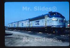 Original Slide CSX Transportation Fresh Paint F7A 116 & B & B & A In 1987