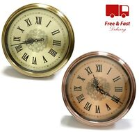 Large Wall Clock Round Classic Roman Numerals Decor Gold 40CM
