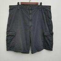 Wrangler Mens Cargo Shorts 42 Gray Flat Front 100% Cotton
