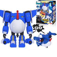 Fun Larva Robot Transformation Car Blue Toy Action Figure Deformation Boy Gift