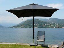Maffei ombrellone telescopico Kronos Art.139Q grigio poliestere 300x300cm