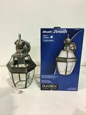 Heath Zenith 150 Degree Silver Carriage Lantern w/ Clear Beveled Glass New Other