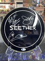 Seether 3X Signed Autographed mini Drumhead! Full Band! Beckett LOA!