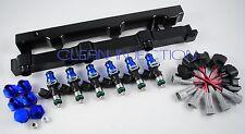 fit Nissan 350z infinity g35 VQ35DE engine bosch 550cc Fuel injectors Black Rail