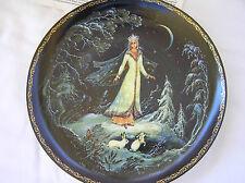 "Russian ""Snegurochka"" Plate, Bradex, The Snowmaiden Series"